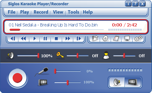 Siglos Karaoke Player/Recorder for Windows 10