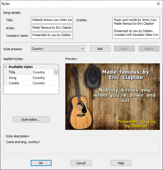 Karaoke Video Creator screenshot