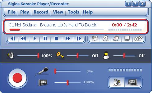 Siglos Karaoke Player Recorder 2 Software